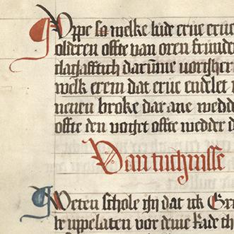 Detail der Handschrift aus Bremervörde