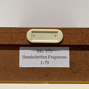 Fragmentekiste Marburg, Universitätsbibliothek Ms. 375/1-79