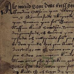 Detail aus der altnordischen Urkunde